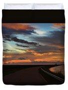 Florida Sunset Winding Road Duvet Cover