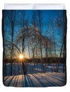 Sunset Winter Shadows Duvet Cover