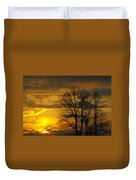 Sunset With Backlit Trees Duvet Cover