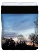 Sunset With Crescent Moon Duvet Cover