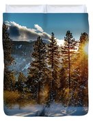 Sunset With Trees Duvet Cover