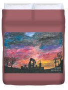 Sunset With You Duvet Cover