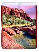 Sunset Zion National Park Duvet Cover