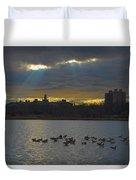 Sunset,lake, Duvet Cover