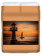 Sunsets And Sailboats Duvet Cover