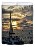 Sunsets And Sails Duvet Cover