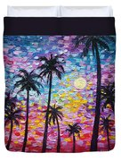 Sunsets In Florida Duvet Cover