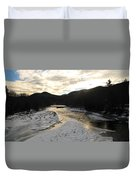 Sunsets On The Pemigewasset Duvet Cover