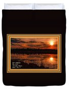 Sunsettia Gloria Catus 1 No. 1 L A. With Decorative Ornate Printed Frame. Duvet Cover