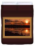 Sunsettia Gloria Catus 1 No. 1 L B. With Decorative Ornate Printed Frame. Duvet Cover