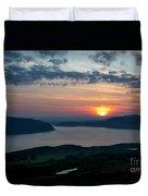 Sunsetting Over Portree, Isle Of Skye, Scotland. Duvet Cover