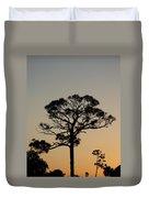 Sunsetting Trees Duvet Cover