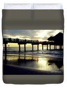Sunshine At The Pier 60 Duvet Cover