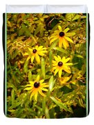 Sunshine Daisies Duvet Cover