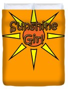 Sunshine Girl Duvet Cover
