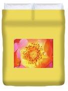 Sunshine - Hybrid Tea Rose - Macro Duvet Cover