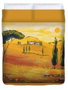 Sunshine In Tuscany In The Morning Duvet Cover