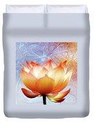 Sunshine Lotus Duvet Cover