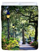 Sunshine On Savannah Sidewalk Duvet Cover