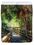 Sunshine On The Boardwalks Duvet Cover