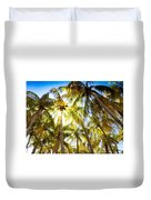 Sunshine Palms Duvet Cover