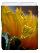 Sunshine Sunflower Petals Two Duvet Cover