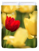 Sunsoaked Tulips #5 Duvet Cover
