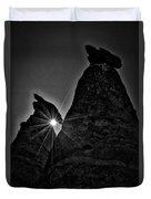 Sunstar At Tent Rocks Duvet Cover