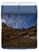 Sunstar Over Mosaic Canyon - Death Valley Duvet Cover