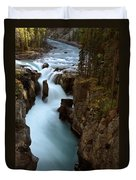 Sunwapta Falls In Jasper National Park Duvet Cover