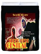 Super Hero Central Duvet Cover by The Scott Shaw Poster Gallery