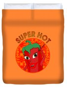 Super Hot Pepper Diva Duvet Cover