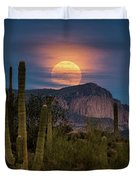 Super Moon 2018 - Wolf Moon  Duvet Cover