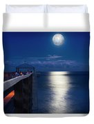 Super Moon At Juno Duvet Cover