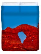 Super Moon Over Arches National Park Duvet Cover