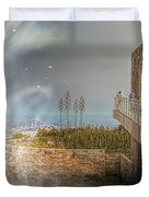 Super Natural Aliens Are Coming Getty Museum  Duvet Cover