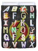 Superhero Alphabet Duvet Cover