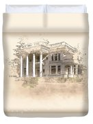 Superintendent's Home Drawing Duvet Cover