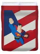 Superman And The Flag Duvet Cover