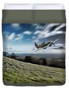 Supermarine Spitfire Fly Past Duvet Cover