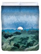 Supermoon Rising - Painted Effect Duvet Cover