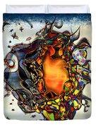 Supernova In Harlequin Duvet Cover