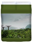 Supertrees At Gardens By The Bay Duvet Cover