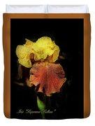 Supreme Sultan Iris  Duvet Cover