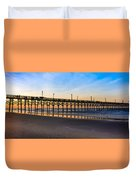 Surf City Fishing Pier Duvet Cover
