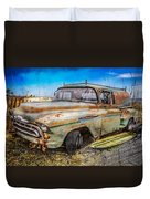 Surf City Here We Come Duvet Cover