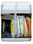 Surf Lessons Duvet Cover