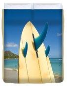 Surfboard Duvet Cover by Dana Edmunds - Printscapes