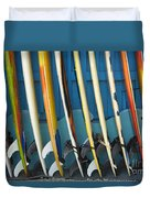Surfboards Duvet Cover by Dana Edmunds - Printscapes