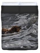 Surfer Dog 2 Duvet Cover